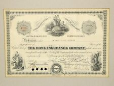 More details for 1929 home insurance company shares certificate a3723 marie pearce glenn