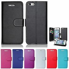 NEW LEATHER WALLET BOOK FLIP PROTECT CASE COVER FOR ALCATEL SHINE LITE & IDOL 4