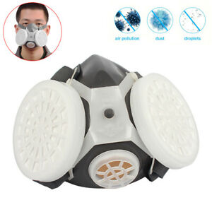 FACE RESPIRATOR GAS  DOUBLE FILTER AIR BREATHING CHEMICAL GAS PROTECTOR