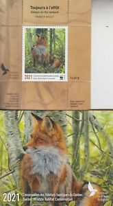 Canada MNH QUEBEC Conservation Stamp 2021  DQ108  WWF Overprint