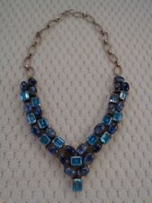 Multi-Color Blue Gemstone Necklace - Gemstone Jewelry Silver 925- Free Shipping!