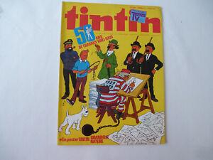 Journal TINTIN n° 174 - 1979 - 50 ans de travaux fort gais + poster Tintin