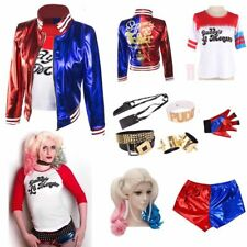 Adult Child Kid Cosplay Harley Quinn Costume Halloween Suicide Squad Fancy ch*