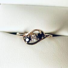 Fabulous 9ct Gold Sapphire and Diamond Three Stone Ring 💍 Size K