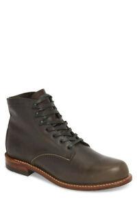 Wolverine 1000 Mile Plain Toe Men's Lace Up Ankle Boots US Men Sz.10D, MSRP $365