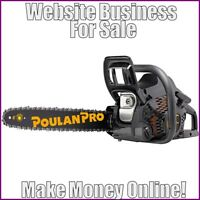 CHAIN SAWS Website Earn $185.40 A SALE|FREE Domain|FREE Hosting|FREE Traffic