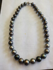 Black & Silver South Sea Pearl Necklace
