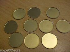 Cabochon settings for 18mm cabs pack of 20 antique gold UK seller A177