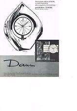 PUBLICITE ADVERTISING   1965   DAUM   CRISTAL  pendules THOR