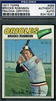 Brooks Robinson Signed Psa/dna 1977 Topps Certified Authentic Autograph