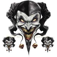 Decal Graphic Motorcycle Windscreens Air Brush Jester Skull Clown Biker Joker