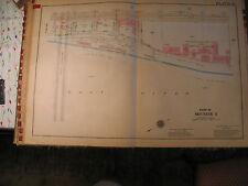 Original 1930 New York City Nyc Atlas Linen Map Queensboro Bride to York