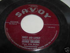 GEORGE SHEARING-SWEET AND LOVELY/WHEN DARKNESS FALLS 45