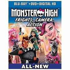 Monster High: Frights, Camera, Action! (Bluray, DVD, Digital HD Copy)