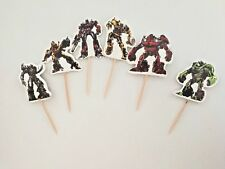24Pcs Transformer boys CUPCAKE CAKE TOPPERS Party Supplies Decoration
