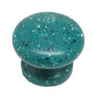 """LOT 25 AMEROCK Allison Teal Granite White Speckle 1-1/8"""" Door Knob Pull 14111SKT"""