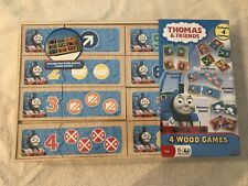 THOMAS & FRIENDS, 4 Wood Games, in Wood Storage Box.  NEW.