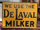 Vintage 1938 DeLaval Milker Dairy Farm Sign Advertising Candy, Soda, Oil, Gas