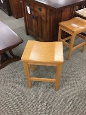 Amish Furniture - Oak Saddle Top Stool counter height .