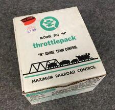 Vintage MRC Throttlepack N Gauge Train Control  Model 501N NOS W/manual