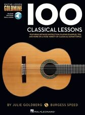 Guitar Lesson 100 Classical Lessons Learn to Play Music Book & Online Audio
