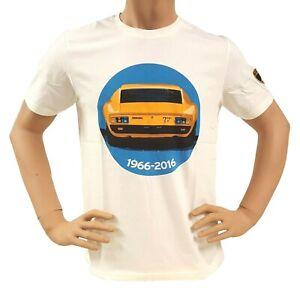 Lamborghini Herren T-Shirt Baumwolle Miura zoom natural weiss Sport Gr. L