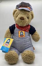 """Thomas & Friends Thomas Engineer Bear Plush 15"""" Teddy w/Tags 2003"""