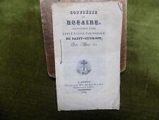 Confrérie du Rosaire Eglise SAINT-EUTROPE année 1822 - 1834 Saintes