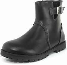 Birkenstock Stowe Women Black Leather with Rubber Sole Zipper Boot US 5