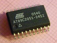 3x AT89C2051-24SI 8-Bit Microcontroller with 2K Bytes Flash, Atmel