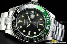 New Invicta Men's 47mm Grand Diver Automatic Green Black Bezel Silver SS Watch