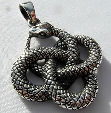 Sterling Silver (925)  Ouroboros  Serpent  Pendant    (8.2 grams)  !!   New  !!