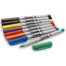 Fine & Ultra Fine Point Sharpie Permanent Marker Pen Art Red Green Navy Blue NEW
