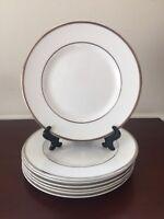 "Wedgwood Sterling Bread Plate 1999 Platinum Trim Bone China 2 Pcs Set   7"""