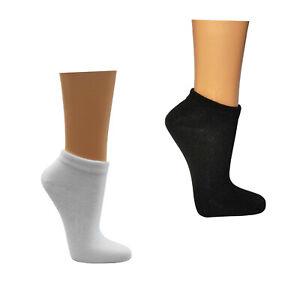 6 - 48 Paar Sneaker Socken schwarz Herren weiss Damen Strümpfe Freizeit Füßlinge