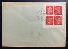 1945 Hohllenstein Germany Postwar OSS Forgery Cover Stamp Block 1
