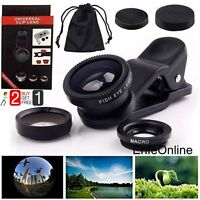 Fish Eye For iPhone 5 5S SE 6 6 Plus+Wide Angle+ Macro Camera Lens 3in1 Clip-on