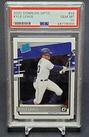 2020 PANINI DONRUSS OPTIC BASEBALL KYLE LEWIS RATED ROOKIE RC #56 PSA 10 INVEST