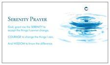 PKG 25 Serenity Prayer Pocket Cards - Inspirational