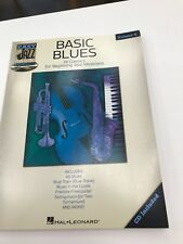 Hal Leonard Jazz Play-Along Basic Blues For Beginning Jazz Musicians Book And Cd