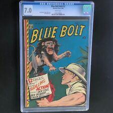 Blue Bolt V8 #12 (1948) 💥 CGC 7.0 💥 2ND HIGHEST! Golden Age Novelty Press