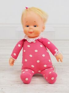 Vintage 1964 Mattel Pink Polka Dot DROWSY Doll Pull Works, No Sound /c