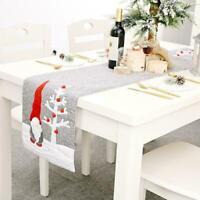 Christmas Table Runner Santa Faceless Doll Festive Table Decor Dinner Xmas J8Q1