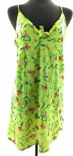 Riley & James Womens Yellow Floral Sleeveless V Neck Dress Summer Casual