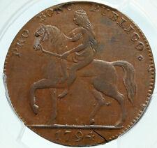 1794 ENGLAND UK Warwickshire CONDER Token LADY GODIVA Coventry PCGS Coin i84265