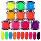 2g BORN PRETTY Neon Phosphor Nail Art Pigment Powder Glitter Dust Manicure Tips