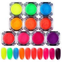2g Neon Phosphor Puder Nagel Kunst Pigment Glitter Maniküre Dekor BORN PRETTY