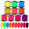 2g BORN PRETTY Neon Phosphor Nail Pigment Powder Glitter Manicure Decor Tips