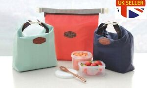Insulated Zipped Thermal Cool Picnic Lunch Ice Bag Waterproof Lunchbox Case