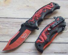 DARK SIDE BLADES SPRING ASSISTED KNIFE WITH POCKET CLIP - 8.25 INCH